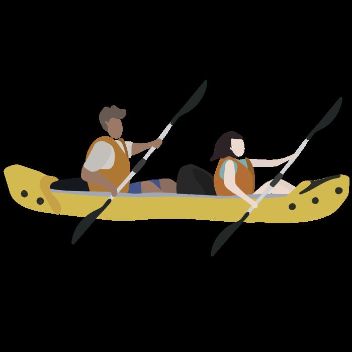 canoe au fil de l'eau